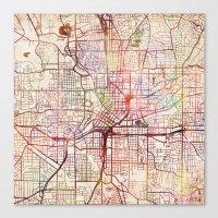 atlanta Canvas Prints featuring Atlanta by MapMapMaps.Watercolors
