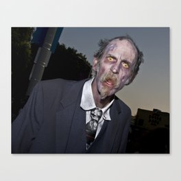 elderly zombie Canvas Print