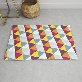 WARM AND COLD TRIANGLES Rug