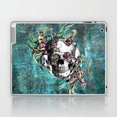 Butterfly smoke skull in color. Laptop & iPad Skin