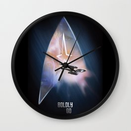 Star Trek Boldly Go Poster Wall Clock