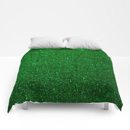 Christmas Evergreen Green Sparkly Glitter Comforters