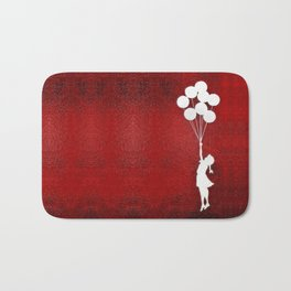 Banksy the balloons Girls silhouette Bath Mat