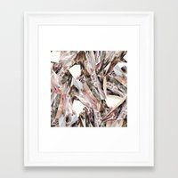 shapes Framed Art Prints featuring Arnsdorf SS11 Crystal Pattern by RoAndCo