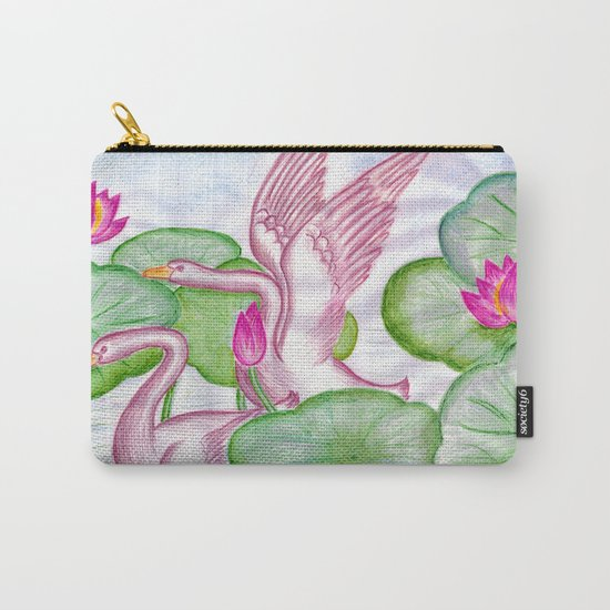 Swan Couples Carry-All Pouch