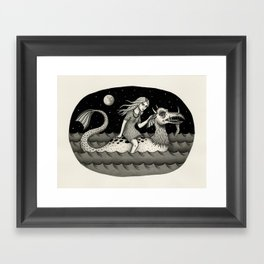 She Traveled By Sea Dragon Framed Art Print