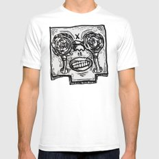 Mr. K descend into hell. White Mens Fitted Tee MEDIUM