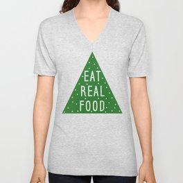 Eat Real Food Unisex V-Neck