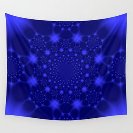 Dazzling Blue Wall Tapestry