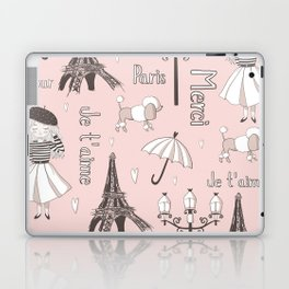 Paris Girl - Pink Laptop & iPad Skin