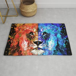 Lion Art - Majesty - Sharon Cummings Rug