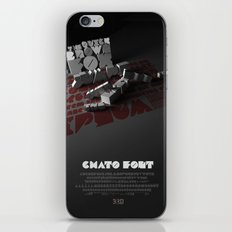 Chato Font poster iPhone & iPod Skin