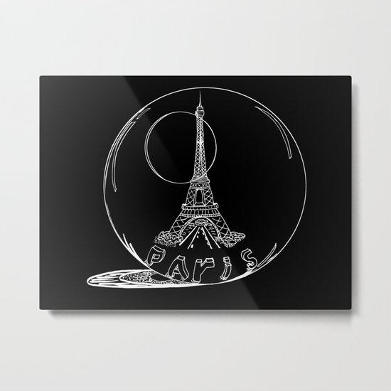 Paris in a glass ball Metal Print