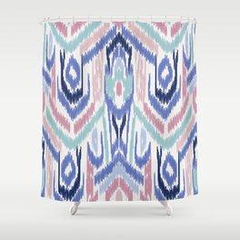 Ikat Ikat Pastel Wandering Shower Curtain