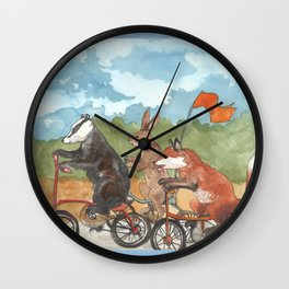 Bike Race Wall Clock