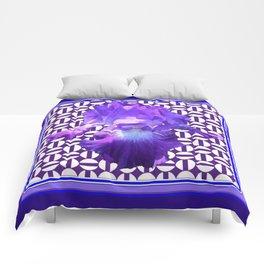 Decorative  purple Iris Optical Pattern Art Comforters