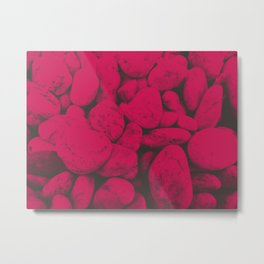 Pink Pebble Scene Metal Print