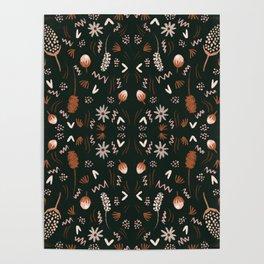 Autumn feeling pattern Poster