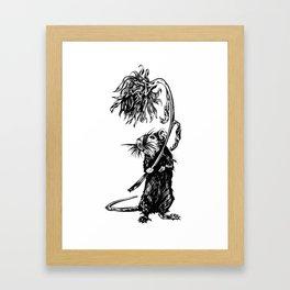 Rat with flower #1 Framed Art Print