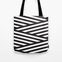 stripes Tote Bags featuring Stripes by Dizzy Moments