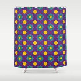 Festa das Tochas Portuguese Azulejo Tile Pattern Shower Curtain