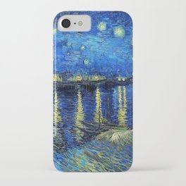Starry Night Over the Rhone by Vincent van Gogh iPhone Case