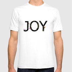 JOY White Mens Fitted Tee SMALL