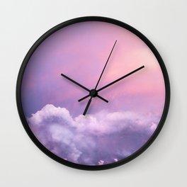 Sunset and Clouds | Blush Pink | Unicorn | Sky Wall Clock
