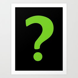 Enigma - green question mark Art Print