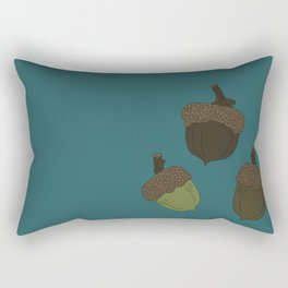 Northern Pin Oak Acorns from the Pacific Northwest Rectangular Pillow