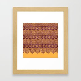 crochet lace border in warm mood Framed Art Print