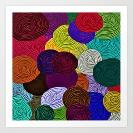 Colorful Circle Art Art Print