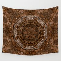 baroque Wall Tapestries featuring Baroque Leather style art by Pepita Selles