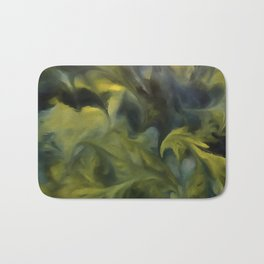 Jack Frost In Blue Gray and Yellow Bath Mat