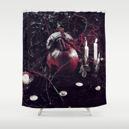 Pumpkins And Candles 2 Shower Curtain