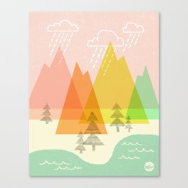 Raindrop Valley Canvas Print