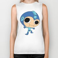 megaman Biker Tanks featuring Silly Megaman by oshio
