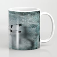dragonfly Mugs featuring Dragonfly by KunstFabrik_StaticMovement Manu Jobst