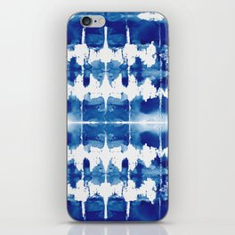 Shibori Tie Dye Indigo Blue iPhone Skin