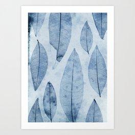 Botanical Pattern 2 (blue) Art Print
