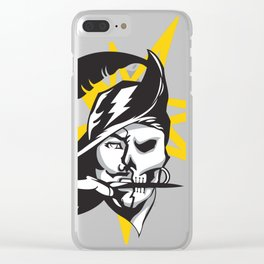 Tampa Sports V3 Black w/ yellow star Clear iPhone Case