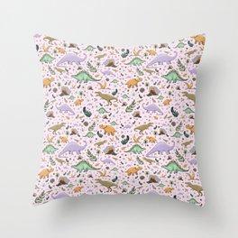 Pretty Dinosaurs Throw Pillow