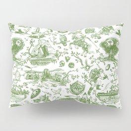 """Zelda """"Hero of Time"""" Toile Pattern - Kokiri's Emerald Pillow Sham"""