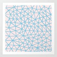 Seg Blue Pink Art Print