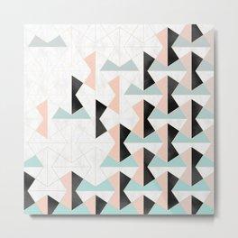 Mixed Material Tiles Metal Print