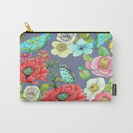 Floral Watercolour Carry-All Pouch