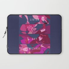 Listen Up Gay Wizards Laptop Sleeve