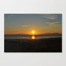 sunset over arran Canvas Print