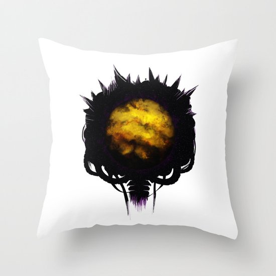 Zebes Throw Pillow
