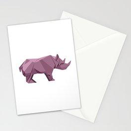 Origami Rhino Stationery Cards